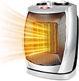 Portable Space Heater with Adjustable Thermostat-1500w with Overheat Protection & Tip-Over Protection Personal Mini Heater Overheat Protection and Safety Cut-Off For the Home and Office