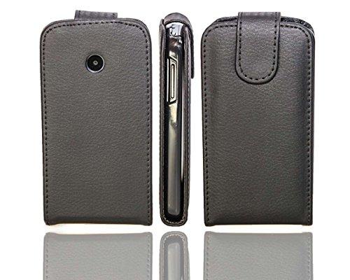 caseroxx Flip Cover für Huawei Ascend Y330, Tasche (Flip Cover in schwarz)