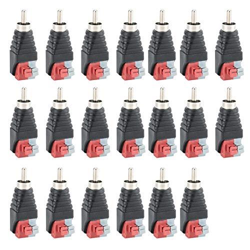 Enchufe macho, conector para cable CCTV, conector RCA, instalación fácil y rápida de 43 mm / 1,7 pulgadas para uso profesional de audio pequeño