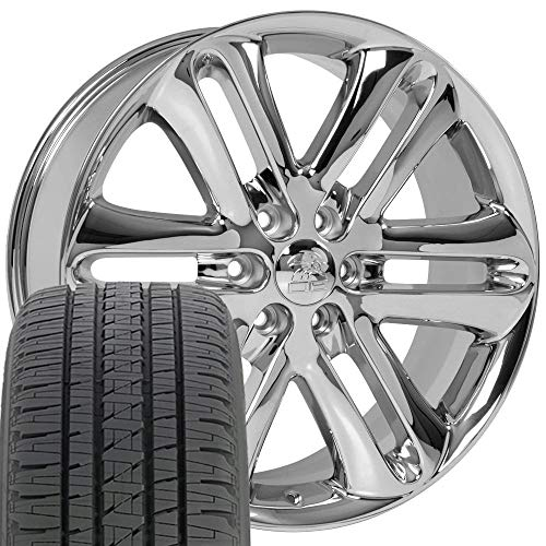 OE Wheels LLC 22 Inch Fits Ford Expedition F150 Lincoln Mark LT Navigator F150 Style FR76 Chrome...