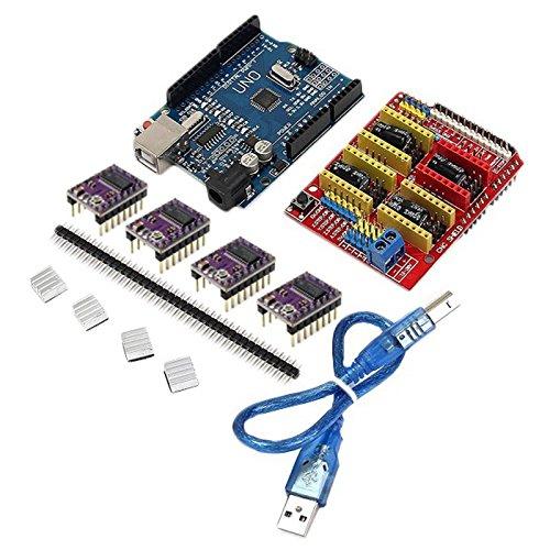 XZANTE CNC Scudo + Uno R3 Tavola + 4 X DRV8825 Autista Kit per Scheda del modulo Stampante 3D Arduino