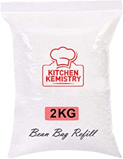 Kitchen Kemistry RR Collection - 2 Kg Bean Bag Refill/Filler - White Coco (2 kg Beans - 1400 Grams net Weight as per India...
