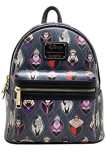 Loungefly X Disney LASR Exclusive Villains Stained Glass Mini Backpack