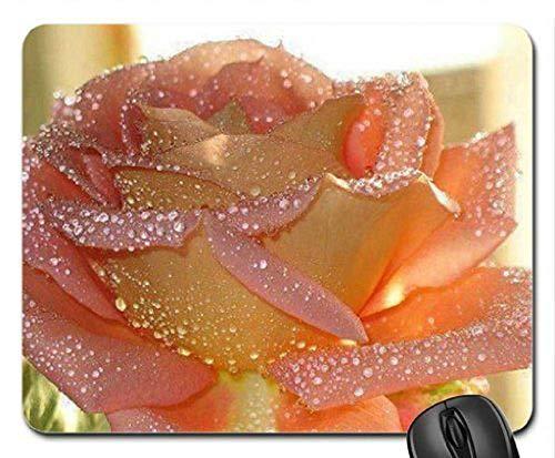 (Precyzyjna szczęta) Mata myszy Podkładka myszy Gry Blad Róża błyszcząca z rosa podkładką pod myszką, podkładką podkładką (rósł podkładka pod mysz)