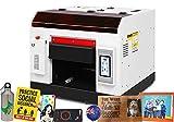 Tamaño A3 automático UV de cama plana impresora para PVC tarjeta PET teléfono celular caso tazas de vidrio metal madera impresión