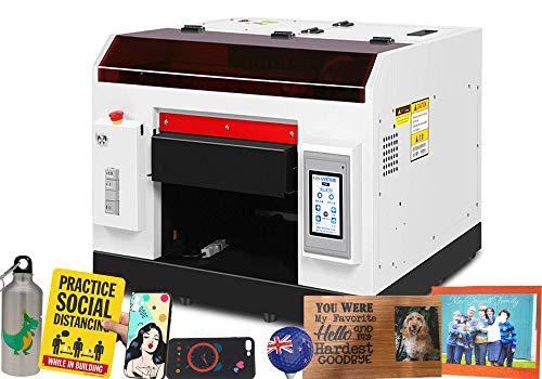 A3 Formato Automatico UV Flatbed Stampante per PVC PET Card Cellphone caso Tazze di Vetro Metallo Legno Stampa