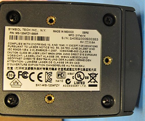 Zebra Enterprise Ms-1204fzy-i000r support fixe de scanner, Laser 1d