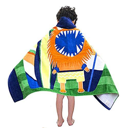 ZHJC Toalla de baño para niños Niños Cambiantes Albornoces Niños Niños Cartón Toalla De Playa Poncho con Capucha Toalla De Baño De La Natación Después de baño para Uso (Color : Pirate)
