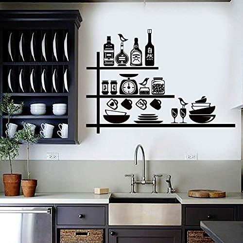 Utensilios de cocina calcomanías de pared herramientas de chef cocina bar restaurante decoración de interiores pegatinas de vinilo para ventanas papel tapiz de vajilla creativa
