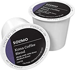 100 - 10% Kona Blend coffee pods Blend of select coffees from Kona Moku on the Big island of Hawaii and Latin America Delicate body, vibrant acidity and a soft, subtle aroma Mild sweetness with a smooth, balanced finish Compatible with 1.0 and 2.0 k-...
