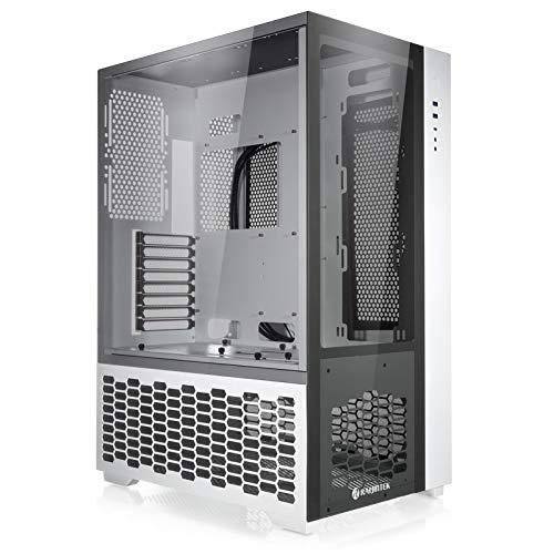 RAIJINTEK Paean Premium Midi Tower PC Carcasa de ordenador de cristal templado para carcasa de pared, ATX CASE, carcasa de ordenador Gaming con buena gestión de cables, carcasa Airflow Case (blanco)