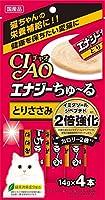 (まとめ買い)いなばペットフード CIAO エナジーちゅ~る とりささみ 14g×4本 SC-163 猫用 【×16】