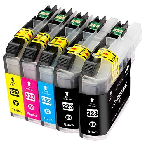 ESMOnline komp. Druckerpatronen als Ersatz zu Brother LC-223 für MFC J4420DW J4620DW J4625DW J5320DW J5620DW J5625DW J5720DW J880DW J680DW J480DW DCP J562DW J4120DW (5er Set)