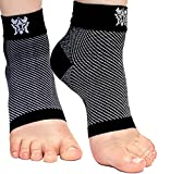 Bitly Plantar Fasciitis Compression Socks for Women & Men - Best Ankle Compression Sleeve, Nano Brace for Everyday Use - Provides Arch Support & Heel Pain Relief (Black, Small)