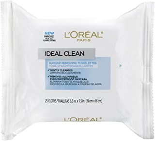 L'Oreal Paris Ideal Skin Make Up Removing Towelettes, 25 Pieces