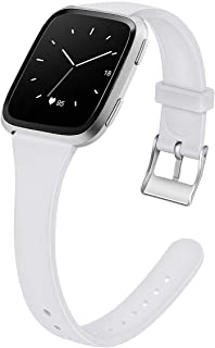Acrbiutu Bands Compatible with Apple Watch 38mm 40mm 42mm 44mm, Slim Thin Narrow Silicone Sport Accessory Strap Wristband ...