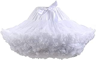 Women's Elastic High Waist Ballet Sweet Puffy Skirt...
