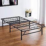PrimaSleep 14 inch Dura Metal Comfort Base, Platform Bed Frame,Steel Slat Support, Twin, Black