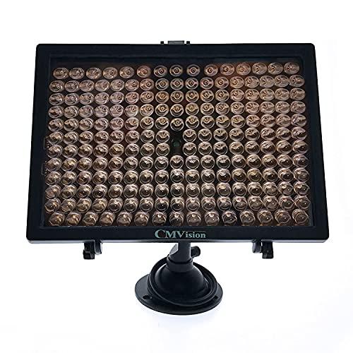 CMVision-IR200 - 198 ( 850nm ) IR LED Night Indoor/Outdoor Long Range 300ft IR Illuminator w/ Free 12V Power Adapter ( Up & Down Position Adjustment only) 45 Degree Spot IR Light