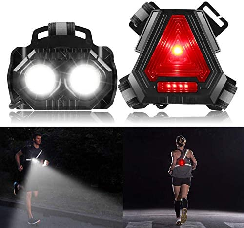ALOVECO Night Running Lights Rechargeable LED Chest Light Back Warning Light with 4 Lighting product image