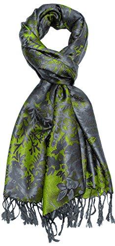 Lorenzo Cana Designer Pashmina hochwertiger Markenschal floral gewebtes Blumen Muster Damast - Webart 70 x 180 cm Modal Schaltuch Schal Tuch Jacquard 9329011