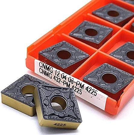 CNMG120404 CNMG120408 PM 4225 Utensili di tornitura Esterna con Inserto di carburo CNMG 120404 Girando Inserire carburo di tungsteno F-MINGNIAN-TOOL Colore : CNMG 120404 PM 4225, Taglia : 10pcs