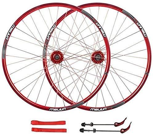 AISHANG Juego de Ruedas de Bicicleta de 20 mm 26 Pulgadas MTB...