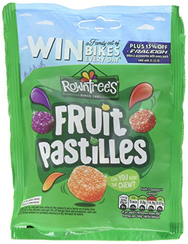 Rowntrees Fruit Pastilles Sweets Sharing Pouch, 150 g - Pack of 10