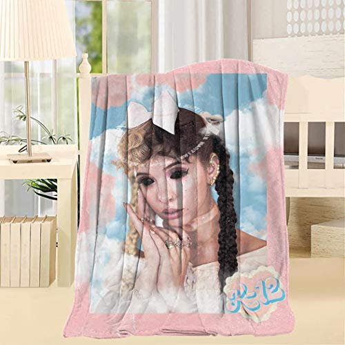 YANSHAI1 Mela-nie Marti-Nez Fleece Throw Blanket Super Soft White Throw 40X50inch