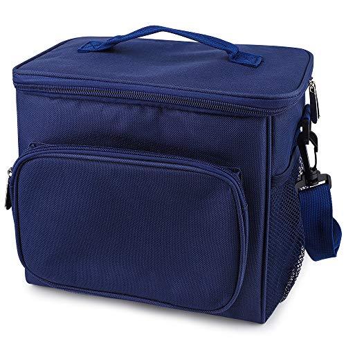 CHUER Kühltasche 10L, Picknicktasche Thermotasche Lunch Tasche isolierte Sanne Kühlbox Lebensmitteltransport für Büro Arbeit Outdoor Camping Reisen, Eistasche klappbar Faltbar