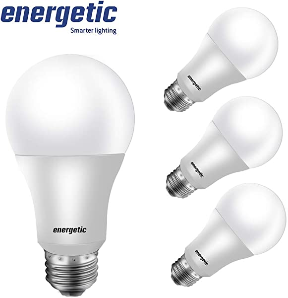 60W Equivalent A19 LED Light Bulb 5000K Daylight E26 Medium Base Non Dimmable 9W 750lm UL Listed 4 Pack