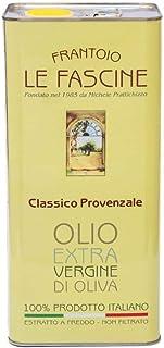 Le Fascine Olio Extravergine di Oliva Italiano in Latta da 5 Lt 100 % Prodotto da Olive Provenzale