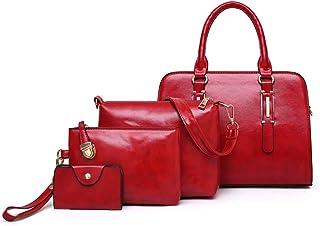 ATRISE Women's PU Leather Satchel Purses and Handbag Shoulder Bag Purse Card Holder