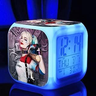 DC Comic Hot Movie Suicide Squad Joker Batman Justice League Harley Quinn Action Figure LED Light 7 Colors Change Digital Alarm Clock Colorful Toys for Kids (Style 4)