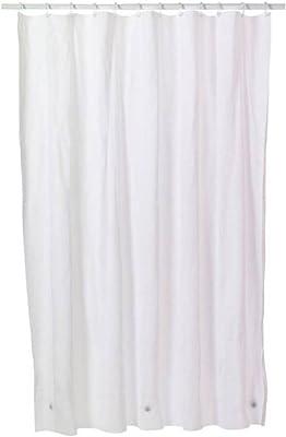 Kuber Industries PVC 0.30 Transparent AC Curtain - 9ft, White, Multicolor, Standard (Curtain21008)
