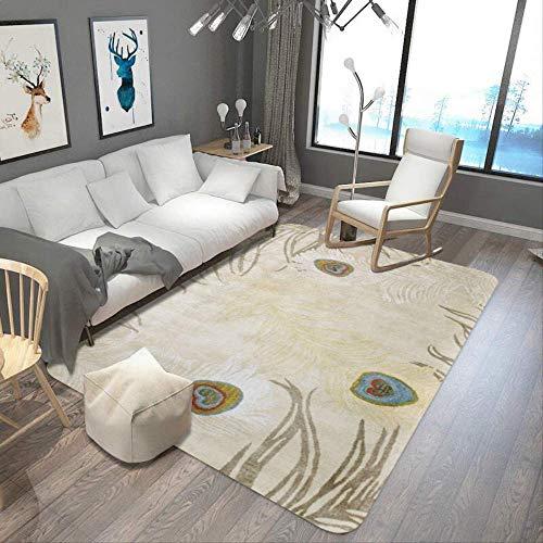 JUNYYANG Manta de área de Soft Mat Cubierta de alfombras Alfombras Pluma Sala de Estar Mesa de Mats Dormitorio de Leer Mantas Casual Inicio Mantas
