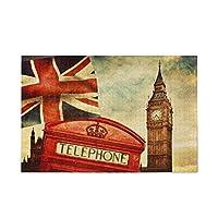 ロンドンの赤い電話ボックスビッグベンとユニオンジャックの旗500ピースジグソーパズルゲームおもちゃギフトDIYグッズ