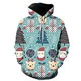 XDJSD Suéter para Hombre Tallas Grandes Suéter De Moda De Papá Noel Chaqueta Navideña Suéter Navideño para Hombre Camiseta Navideña De Manga Larga Sudadera