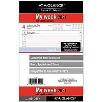 AT-A-GLANCEの2021週計画用替芯、12028 DAY-TIMER、5-1/2インチ x 8-1/2インチ、サイズ4(061-285Y-21)