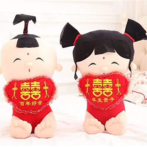 Yuhualiyi123 2ST Hochzeit Raumdekoration Kissen Mode Geschenke Plüsch-Spielzeug-Kissen-kreative Paare Plüschtiere Newlyweds Kissen für Kinder/Familie/Freunde (Color : C, Size : 45cm)