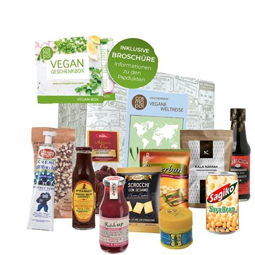 Vegane Weltreise Geschenk für Frauen Männer   Vegane Ernährung aus aller Welt   Vegan kochen   außergewöhnliche vegane Süßigkeiten und Lebensmittel