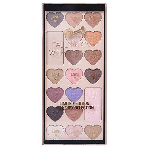 Gloss! Fall In Love Palette de Maquillage 19 Pièces, Coffret Cadeau-Coffret Maquillage