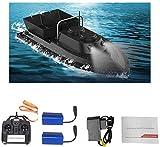 Mdcgok Futterboot köderboot Angeln RC Boot Fishing Bait Boat 24 G High Speed 500m Ferngesteuertes Boot Fischköder 1.5kg Doppelbatterien