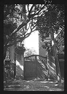 1920 Photo Gate between two buildings, New Orleans, or Charleston, South Ca C627