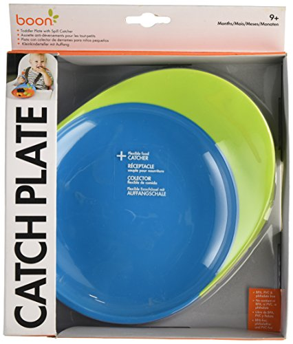 Boon Catch B10132 Toddler Plate with Catch Blue/Green