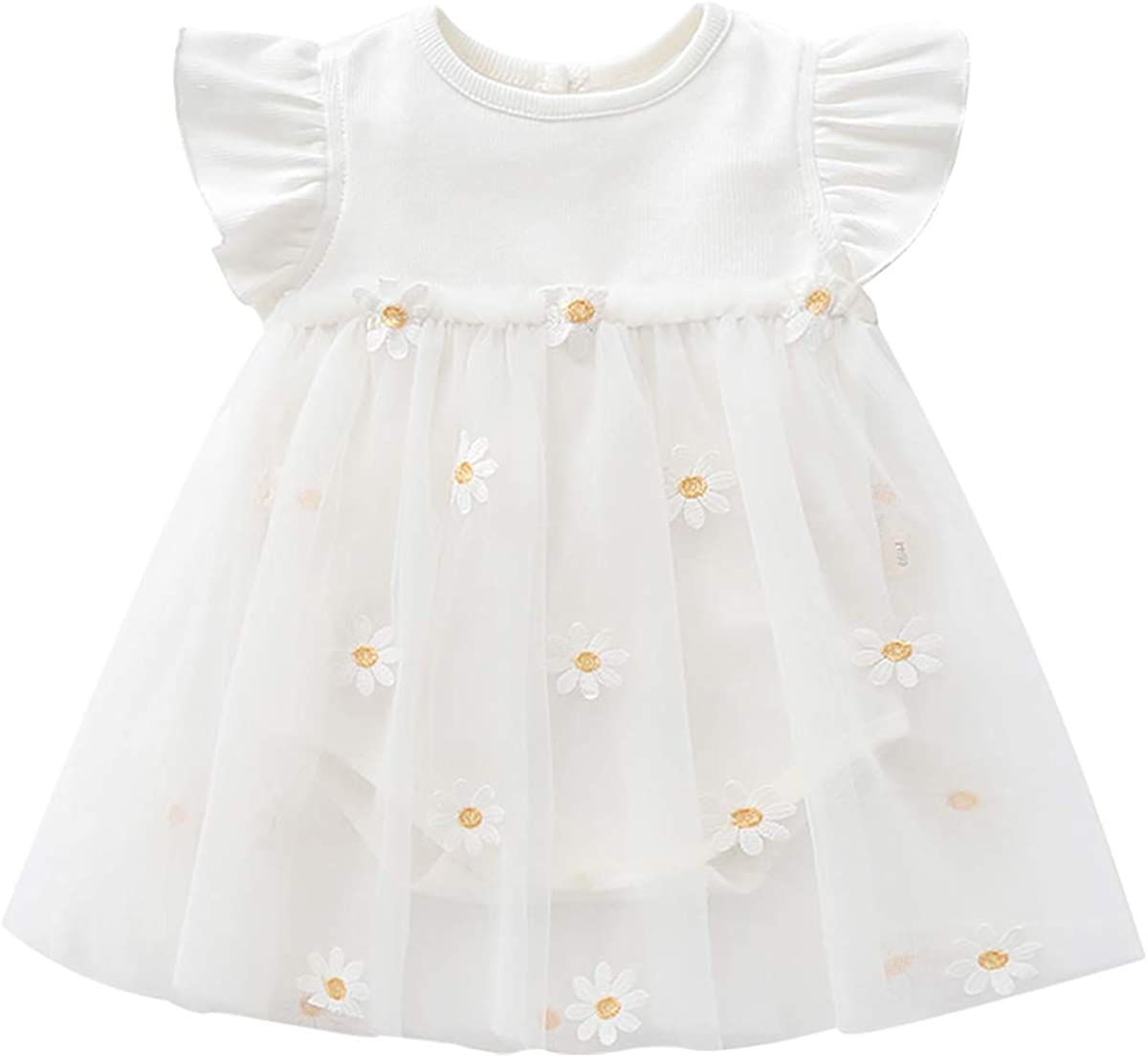 Toddler Baby Girl Short Same day shipping Sleeve Infant OFFicial shop Tulle Newbron Dress