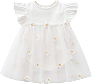 Toddler Baby Girl Dress Infant Floral Ruffle Sleeve Romper Dress Newbron Baby Girl Clothes Outfit