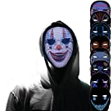 BMDHA Masque LED, Masque Lumineux Programmable Connexion Bluetooth, Masque Oni Geste pour Changer De Visage Convient pour Les Jeux De Rôle, La Fête De Mascarade