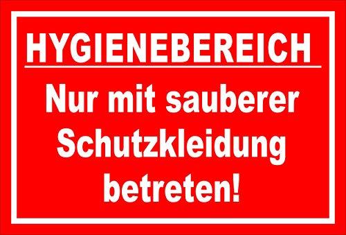 Melis Folienwerkstatt Schild Hygienebereich - 45x30cm - 3mm Hartschaum – 20 VAR S00225-010-D