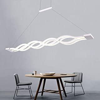 Modern Ceiling Light with Remote,Dimmable Chandeliers, Ceiling Light Fixtures LED Pendant Light for Living Room, Bedroom, Kitchen Island (4-Lights)